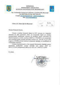 Ministerul Sanatatii si Agentia Nationala de Transplant Banca Celule Stem Euromedics