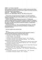 Ordinul 712 din 13 iulie 2012
